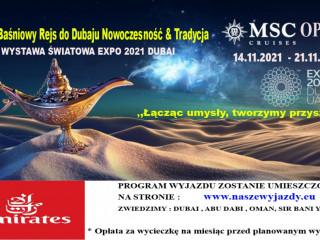 WYCIECZKA EMIRATY ARABSKIE EXPO 2021 WYJAZD 14.11.2021- 21.11.2021