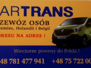 CODZIENNE WYJAZDY Z POLSKI (RANO) I POWROTY DO POLSKI (WIECZÓR/NOC)-  KARTRANS